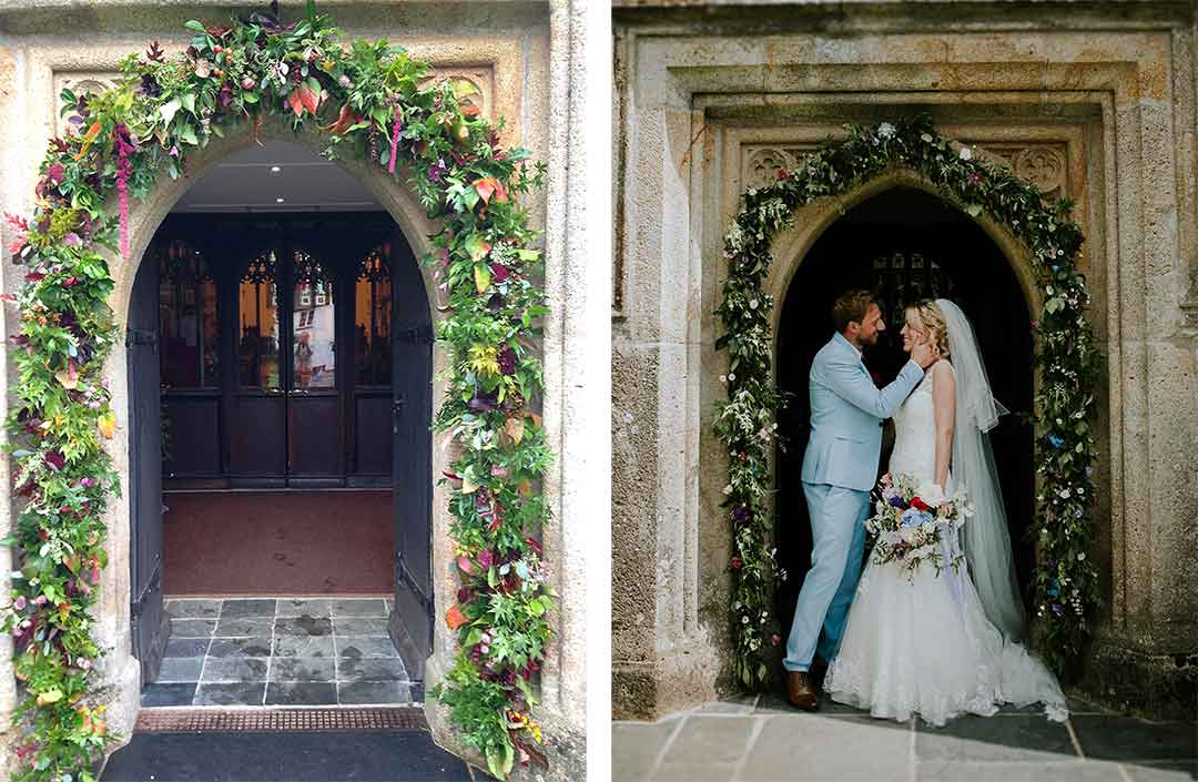 Church flower archways
