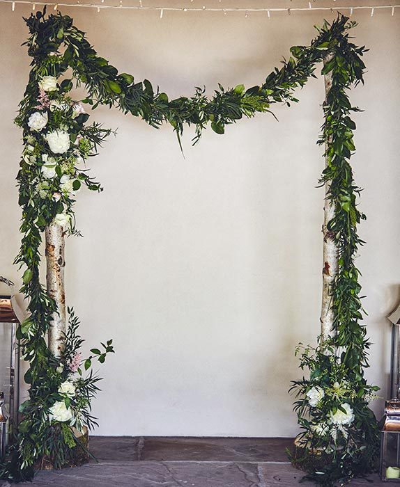 Rustic flower arch