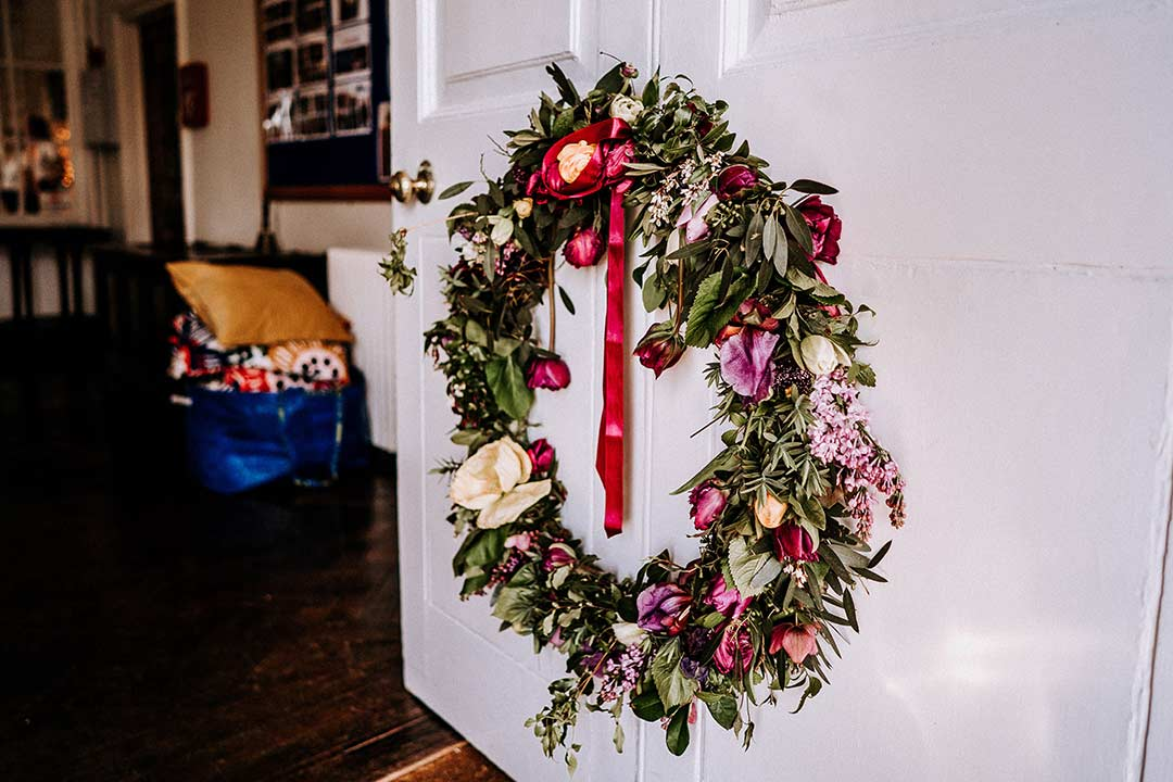 Christmas wedding wreath