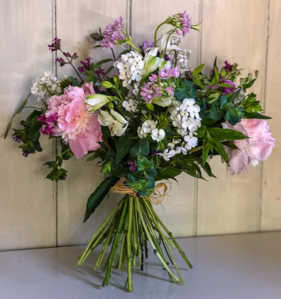 Seasonal large bouquet of hand tied flowers