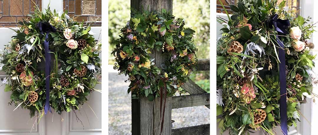 3 Christmas wreaths